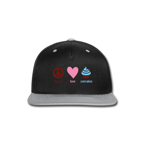 peacelovecupcakes pixel - Snap-back Baseball Cap