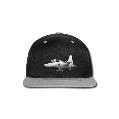Military Fighter Jet Airplane Cartoon - Snap-back Baseball Cap
