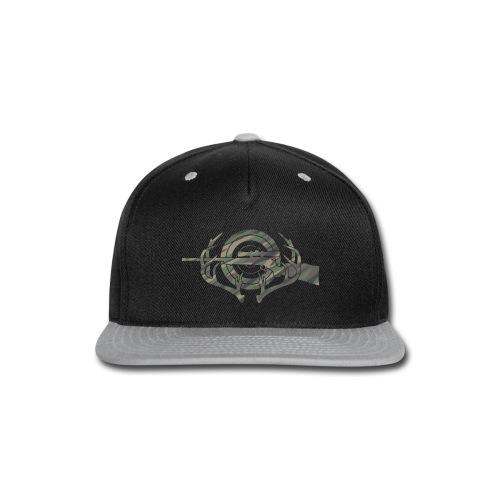 Camouflage Hunting and Shooting Sports Logo - Snap-back Baseball Cap