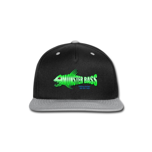 Monster bass fishing charters - Snap-back Baseball Cap