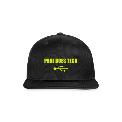 Paul Does Tech Yellow Logo With USB (MERCH) - Snap-back Baseball Cap
