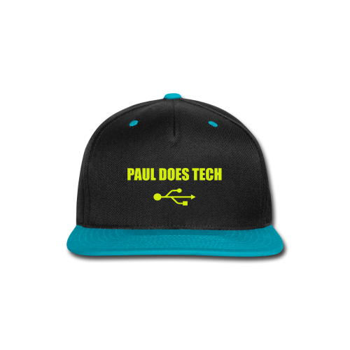 Paul Does Tech Yellow Logo With USB (MERCH) - Snap-back Baseball Cap