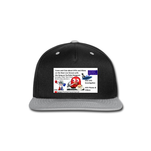 LiveStreamWelcome2 with Crew Back Logo - Snap-back Baseball Cap