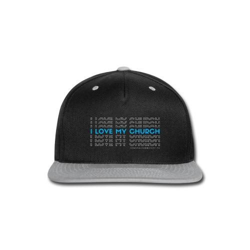 FINAL I love my church - Snap-back Baseball Cap