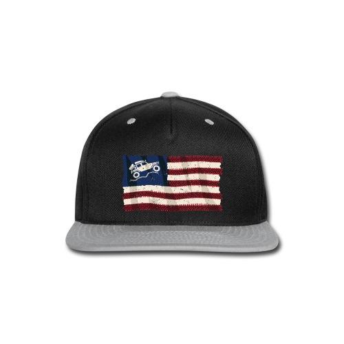 American Off Road 4x4 Overland Flag - Snap-back Baseball Cap