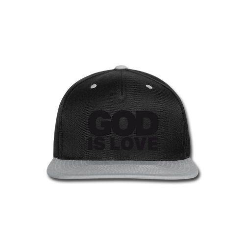 God Is Love - Ivy Design (Black Letters) - Snap-back Baseball Cap