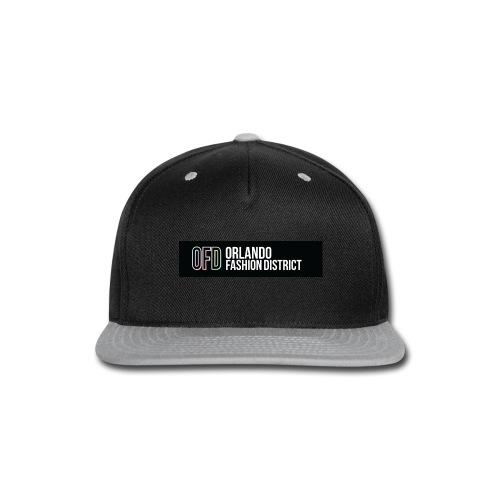 OFD Long Logo White Text - Snap-back Baseball Cap