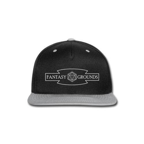 Fantasy Grounds Title Logo - White - Snap-back Baseball Cap