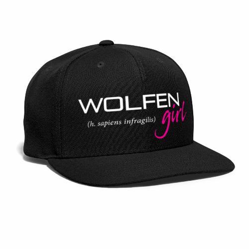 Wolfen Girl on Dark - Snap-back Baseball Cap