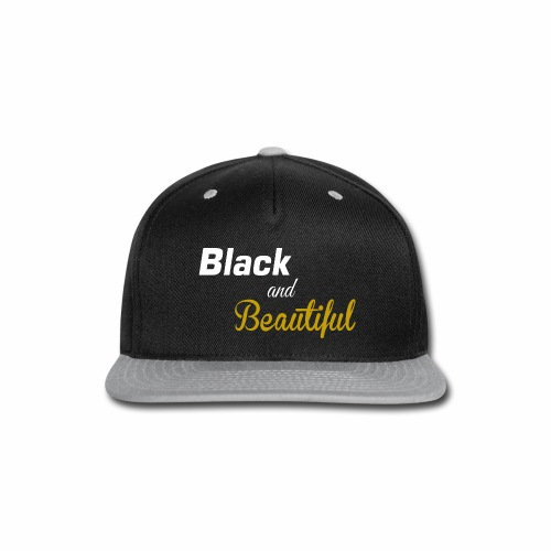 Black & Beautiful Long Sleeve Shirt - Snap-back Baseball Cap