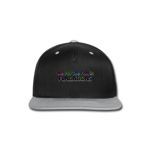 fundations png - Snap-back Baseball Cap