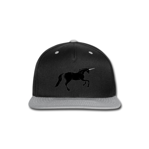 unicorn black - Snap-back Baseball Cap