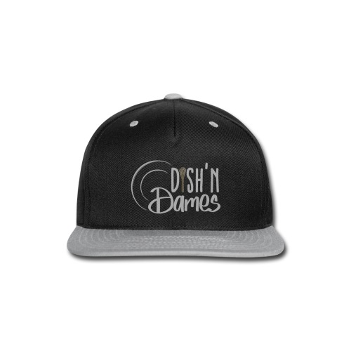 Dish'n Dames White & Gold Logo - Snap-back Baseball Cap