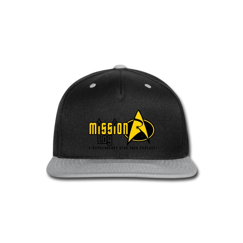 Logo Wide 2 Color Black Text - Snap-back Baseball Cap