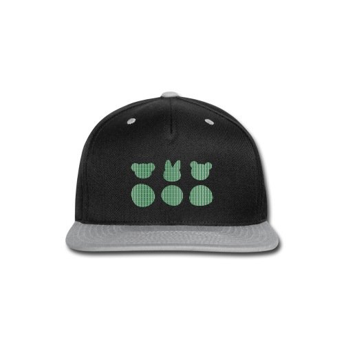 Three Smizdas in green and white - Snap-back Baseball Cap