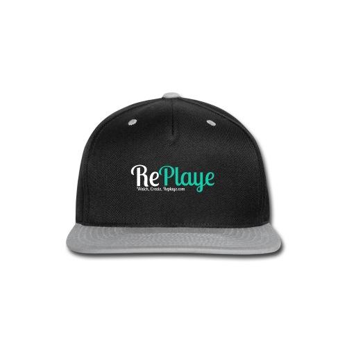 Replaye White on Black - Snap-back Baseball Cap