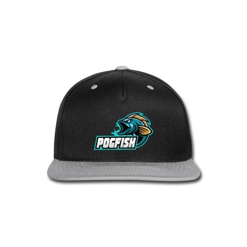 PogFish Text Logo - Snap-back Baseball Cap