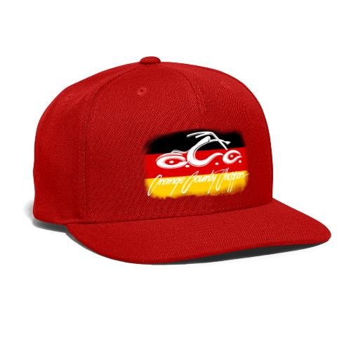OCC Logo Distressed German Flag - Snap-back Baseball Cap