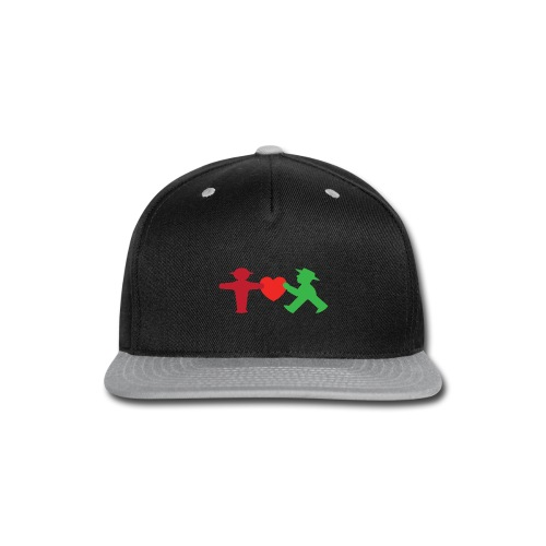 ampelmannchen love - Snap-back Baseball Cap
