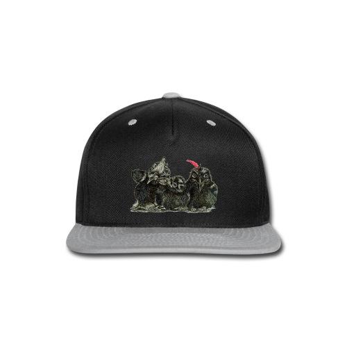 Three Young Crows - Snap-back Baseball Cap