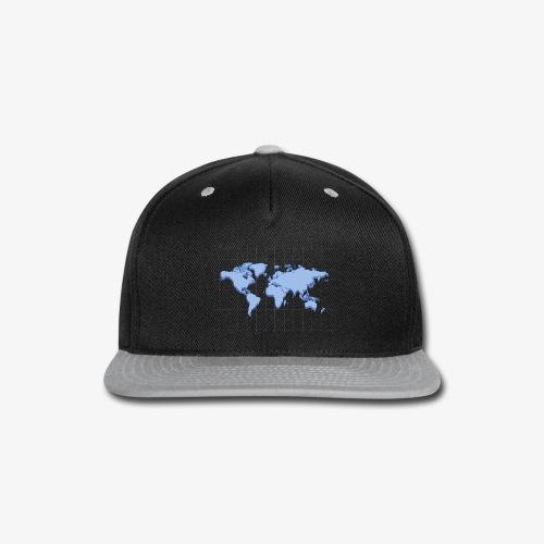 Blue Earth Map - Snap-back Baseball Cap