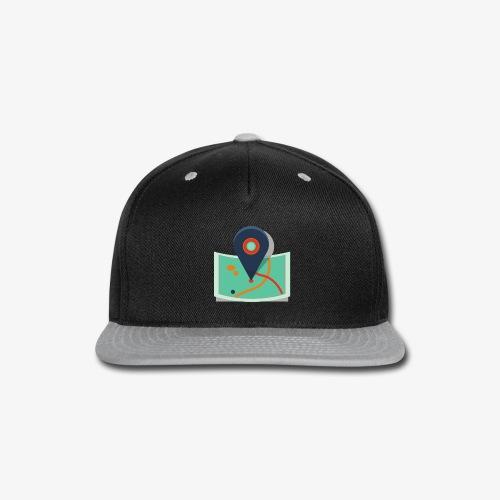 Cool Map Pin - Snap-back Baseball Cap
