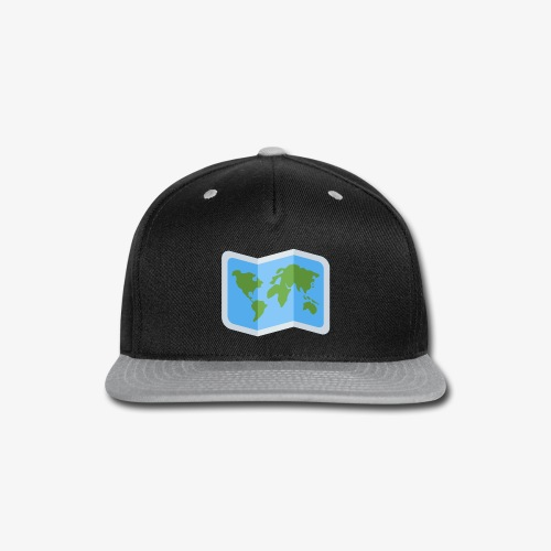 Awesome artsy Earth map - Snap-back Baseball Cap