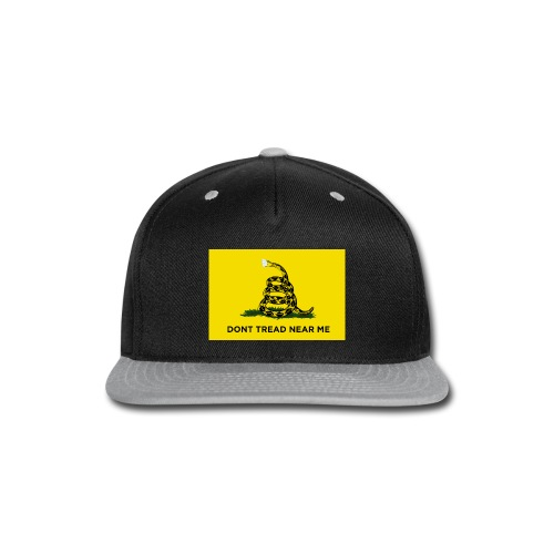 Dont Tread Near Me (Gadsden flag) - Snap-back Baseball Cap
