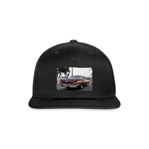 wine red car - Snap-back Baseball Cap