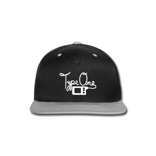 Type One - Insulin Pump 2- White - Snap-back Baseball Cap
