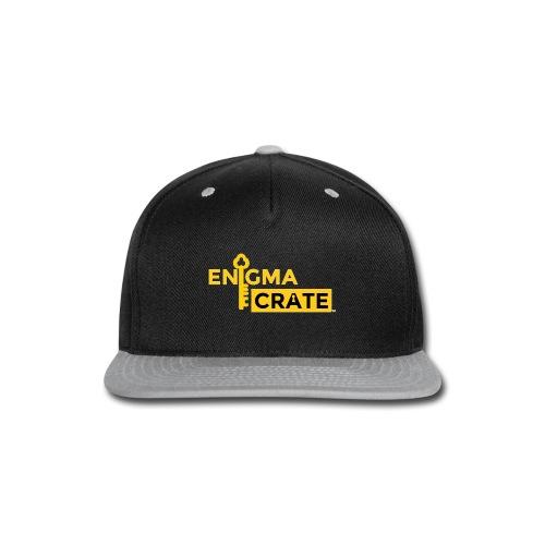 gold on black enigma crate logo - Snap-back Baseball Cap
