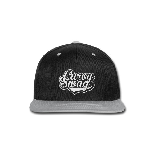 Curvy Swag Reversed Out Design - Snap-back Baseball Cap