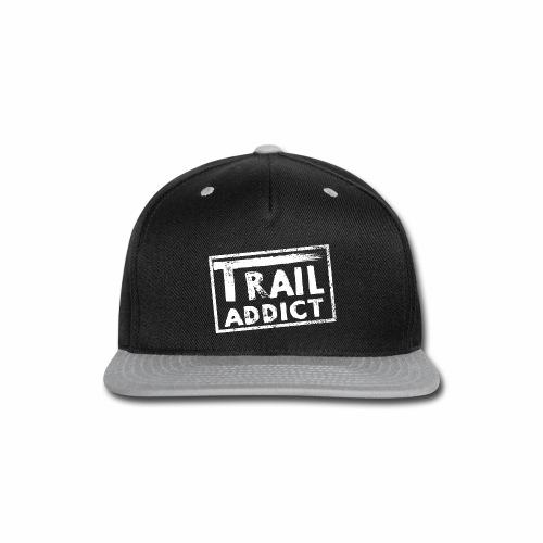 Trail Addict Logo White - Snap-back Baseball Cap