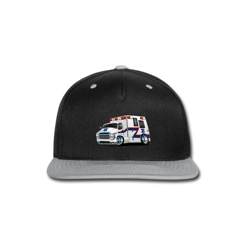 Paramedic EMT Ambulance Rescue Truck Cartoon - Snap-back Baseball Cap