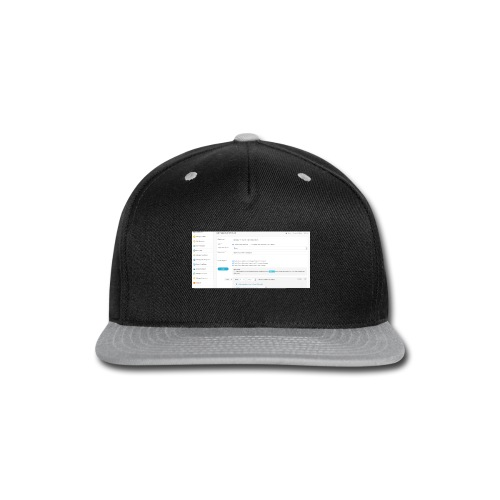 drip plan - Snap-back Baseball Cap