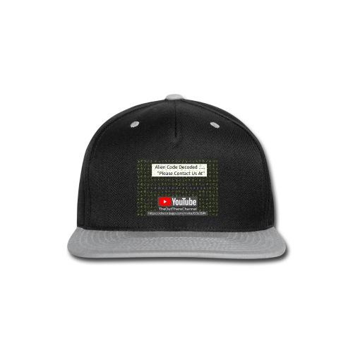 AlienCode v3 TransparentBG2019 - Snap-back Baseball Cap