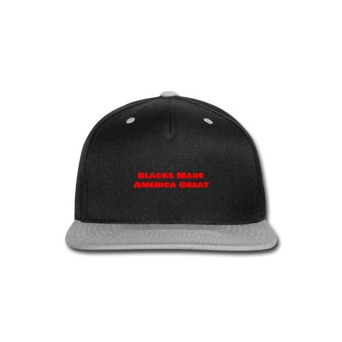 (blacks_made_america1) - Snap-back Baseball Cap