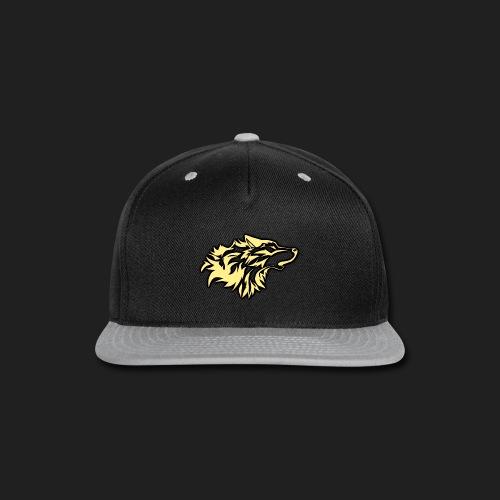 wolfepacklogobeige png - Snap-back Baseball Cap