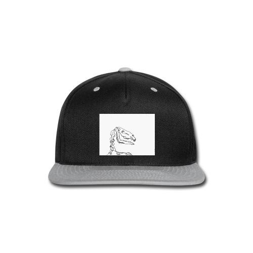 Horse skeleton shirt - Snap-back Baseball Cap