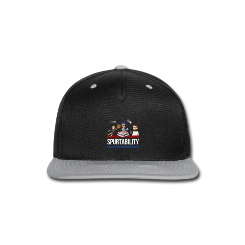 Spurtability White Text - Snap-back Baseball Cap