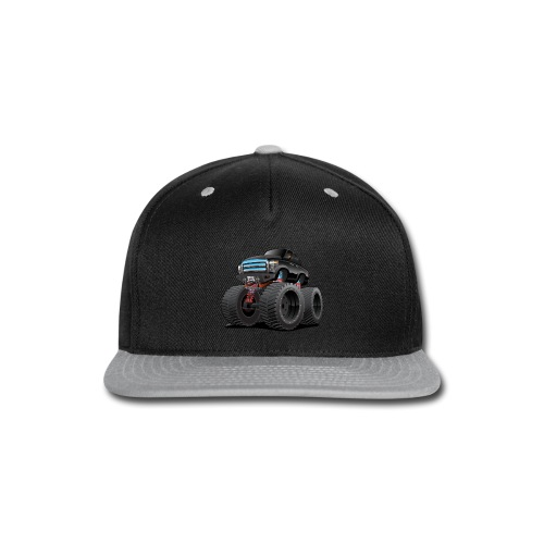 Monster Pickup Truck Cartoon - Snap-back Baseball Cap