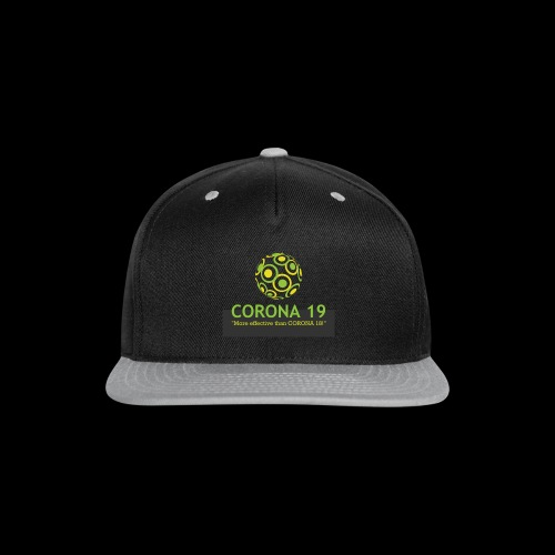 CORONA VIRUS 19 - Snap-back Baseball Cap