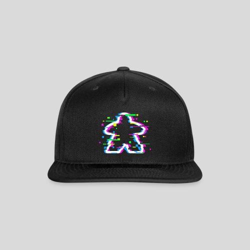 Glitched Meeple - Snap-back Baseball Cap