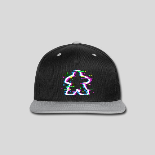 Glitched Meeple - Snap-back Baseball Cap