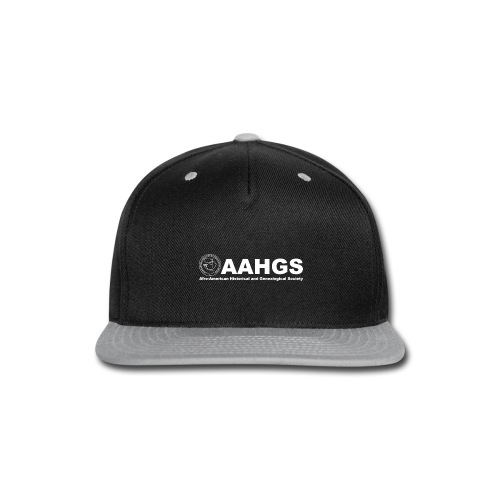 AAHGS logo closeup trans white - Snap-back Baseball Cap
