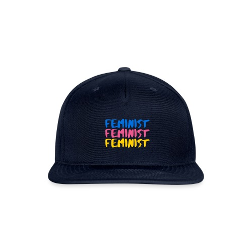 Tri colour feminist BIG PNG png - Snap-back Baseball Cap