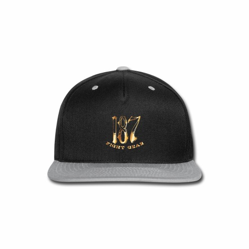 187 Fight Gear Gold Logo Street Wear - Snap-back Baseball Cap