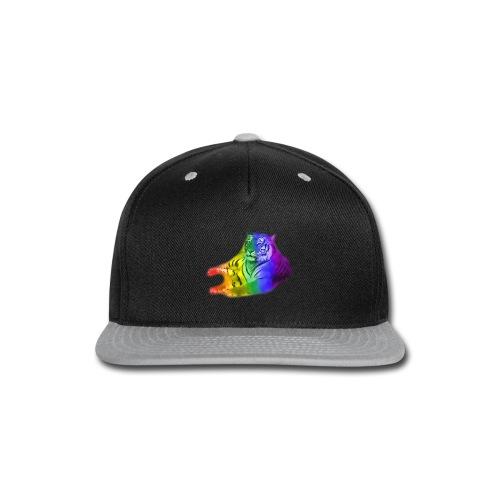 watercolor rainbow tiger - Snap-back Baseball Cap