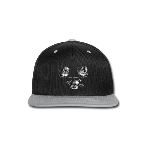 three owls - freedom and fun - Snap-back Baseball Cap