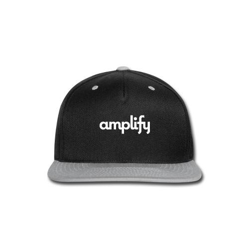 amplify logo// white - Snap-back Baseball Cap